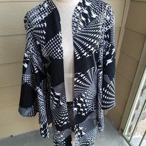 Vintage black/white kimono
